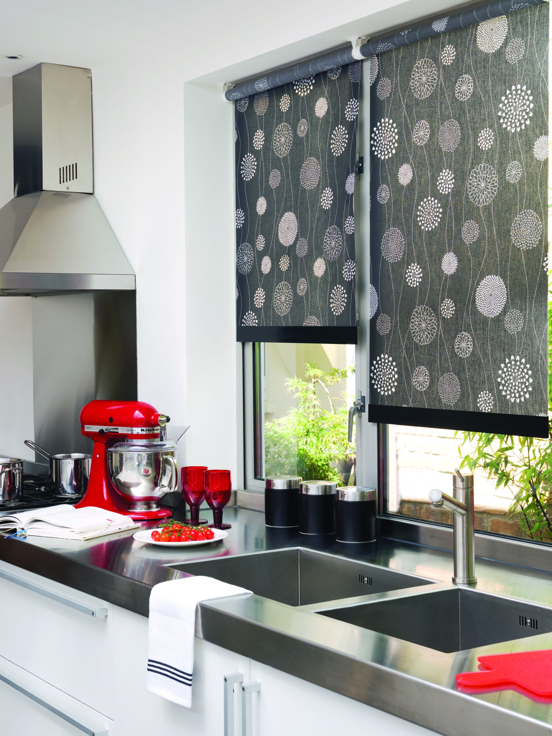 blinds windows for kitchen roller