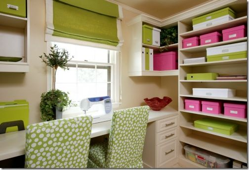 green roman blind office